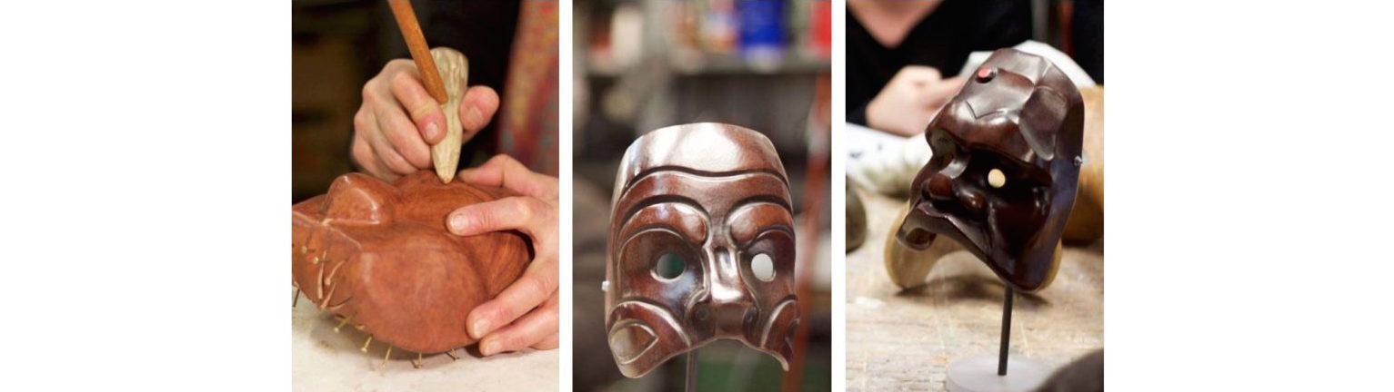 masques réalisés lors des stages
